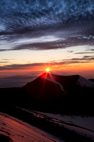 Sunset from atop 14,000 feet in Mauna Kea, Hawaii